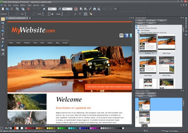 Xara Web Designer And Website Templates